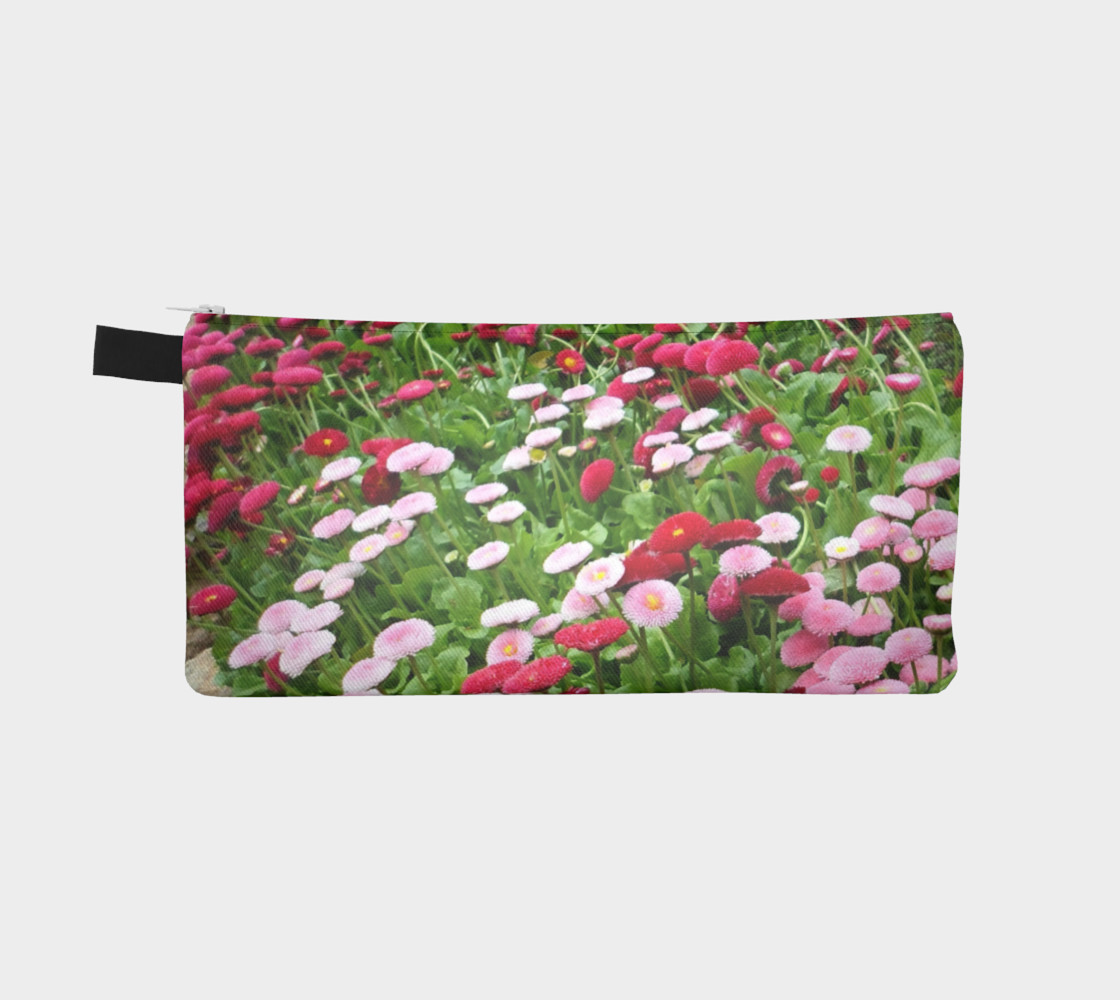 Pink Flowers Pencil Case preview #2