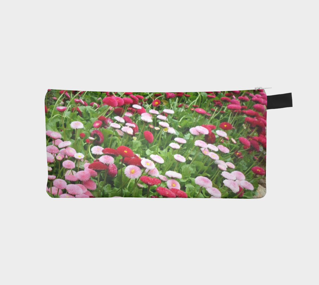 Pink Flowers Pencil Case preview #1