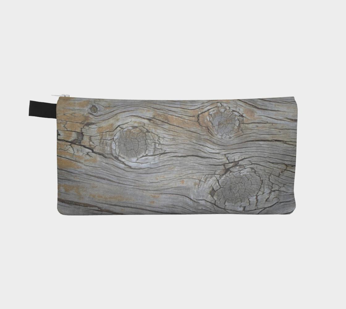 Aperçu de Wood Knots Natural Pencil Case #2
