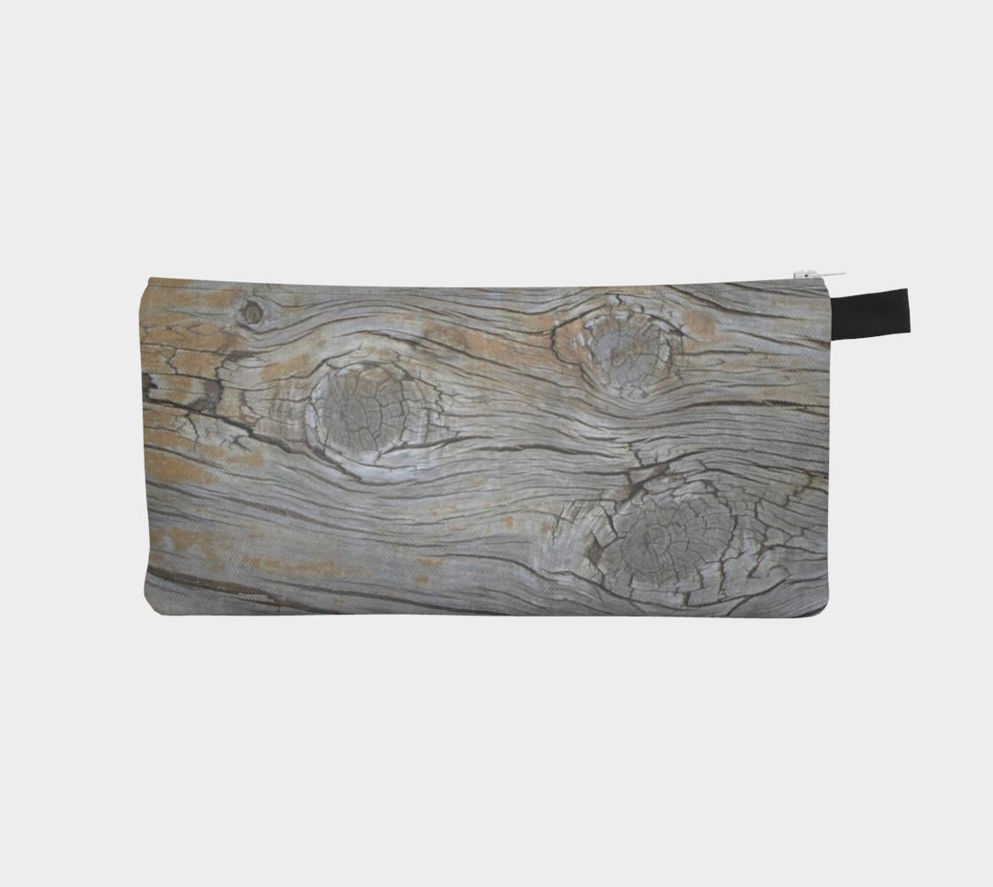 Aperçu de Wood Knots Natural Pencil Case #1