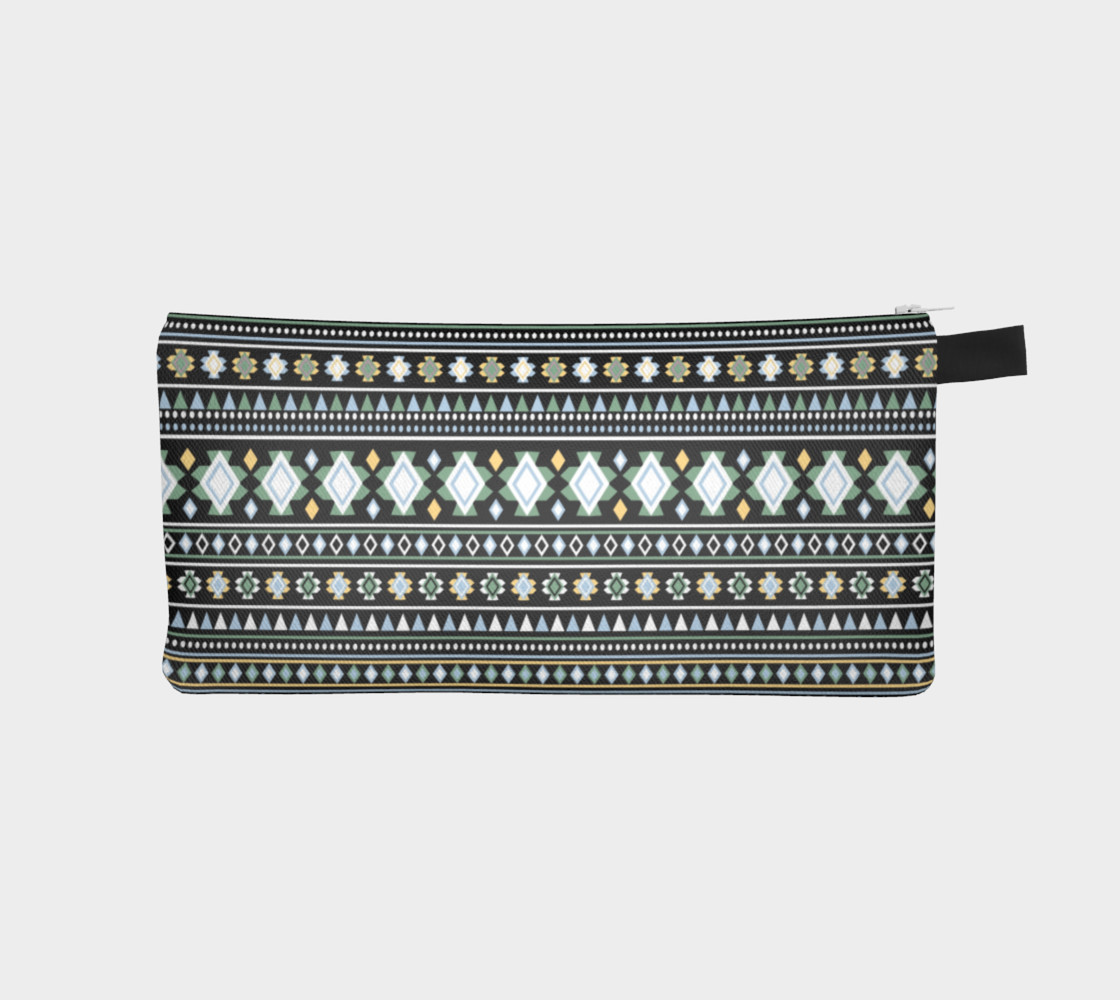 Aztec Black Print Pencil Case preview #1