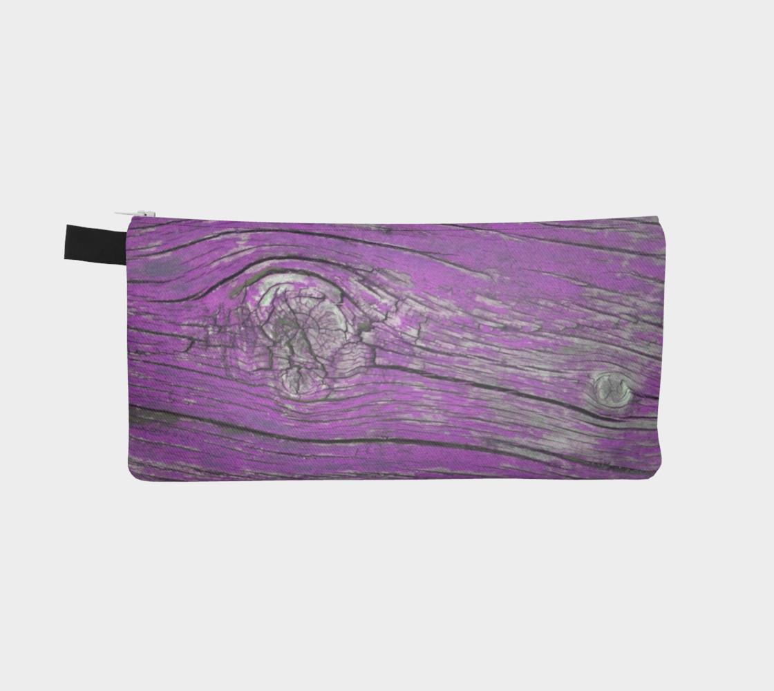Wood Knots Purple Pencil Case preview #2