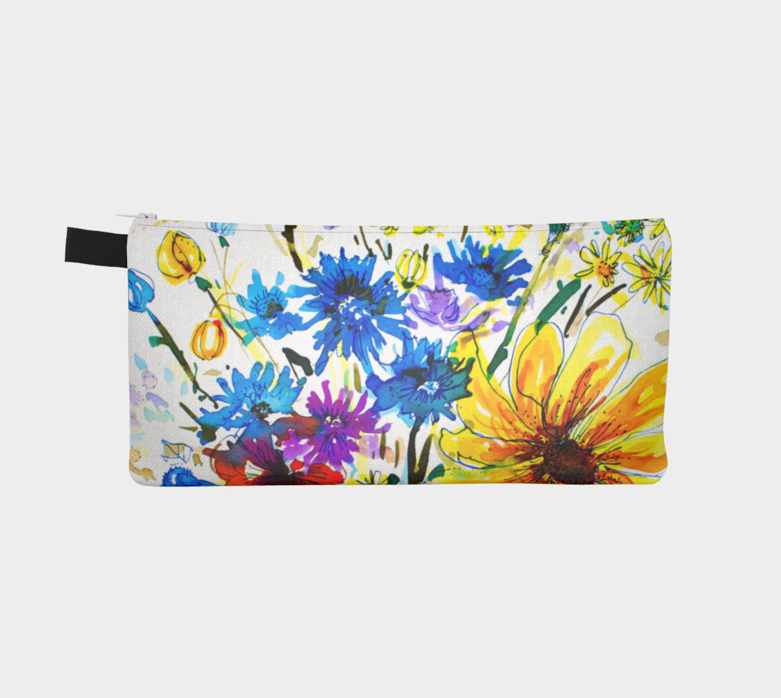 Aperçu de Wild Bouquet pencil case #2
