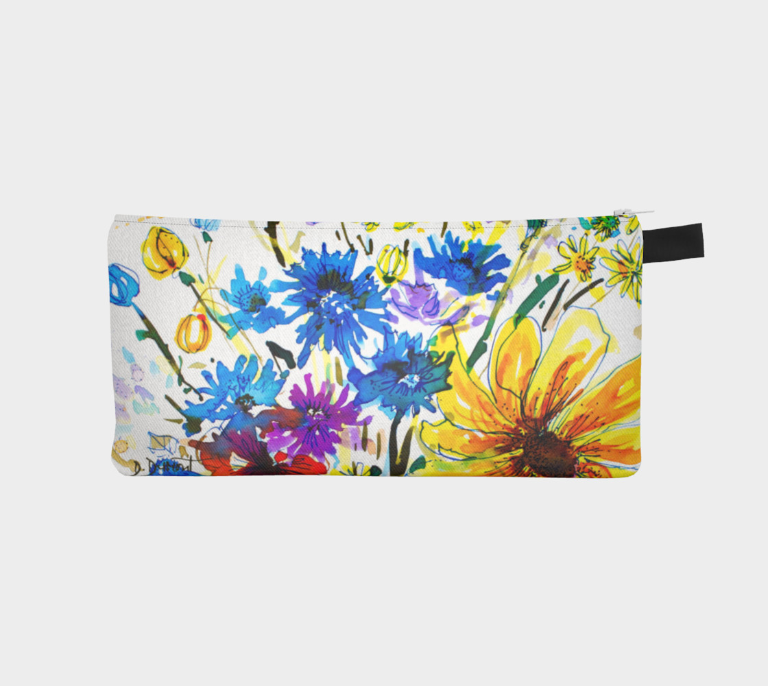 Aperçu de Wild Bouquet pencil case #1