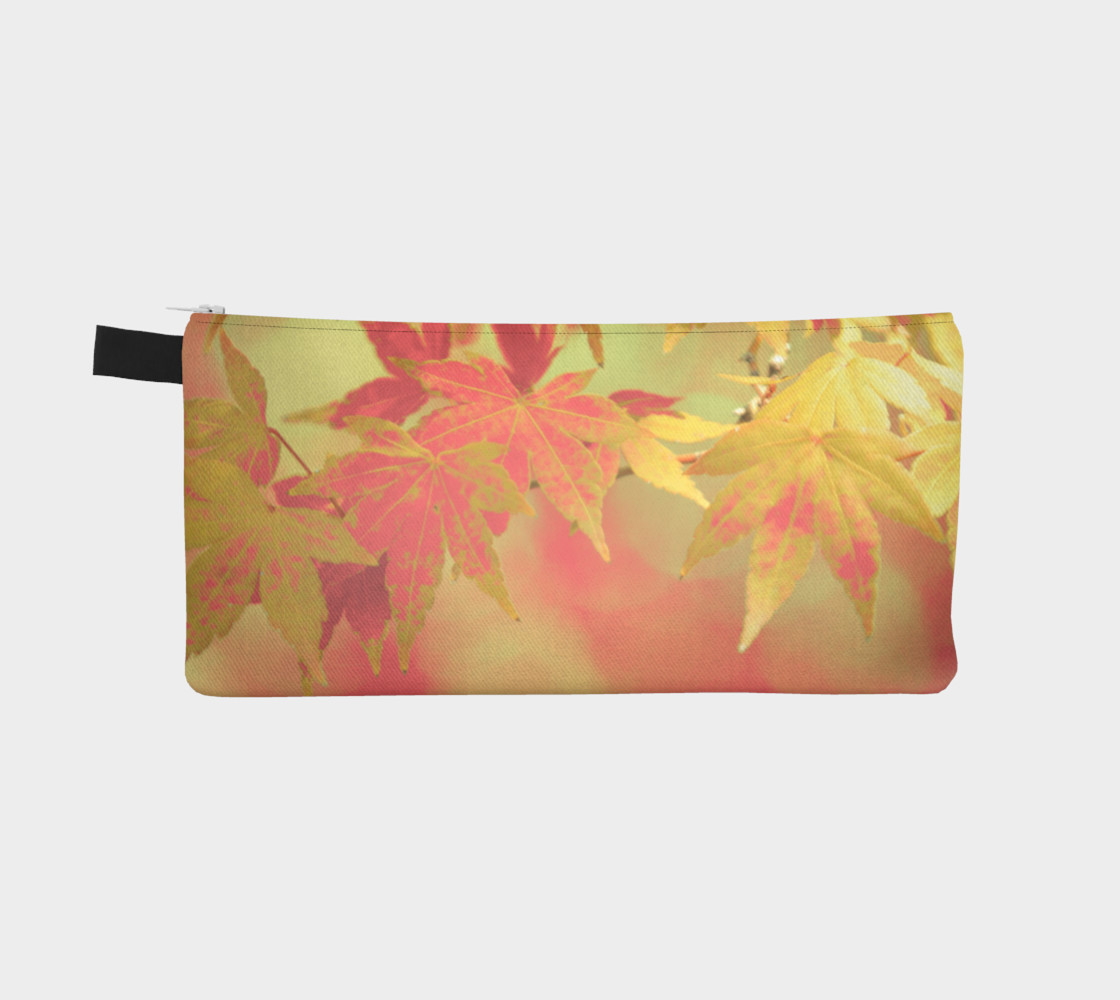 Pink Blush Mint Green Autumn Maple Leaves Miniature #3