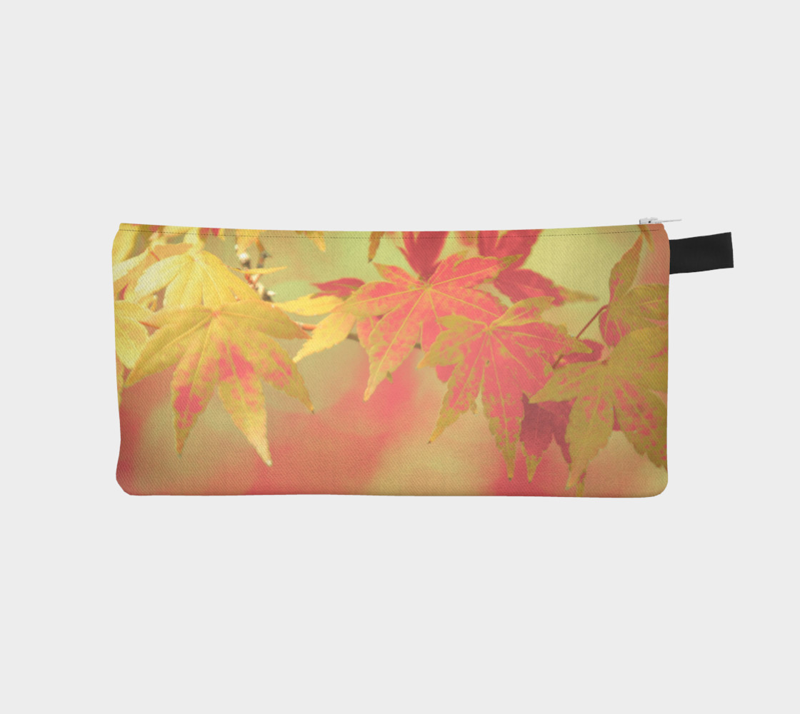 Pink Blush Mint Green Autumn Maple Leaves Miniature #2
