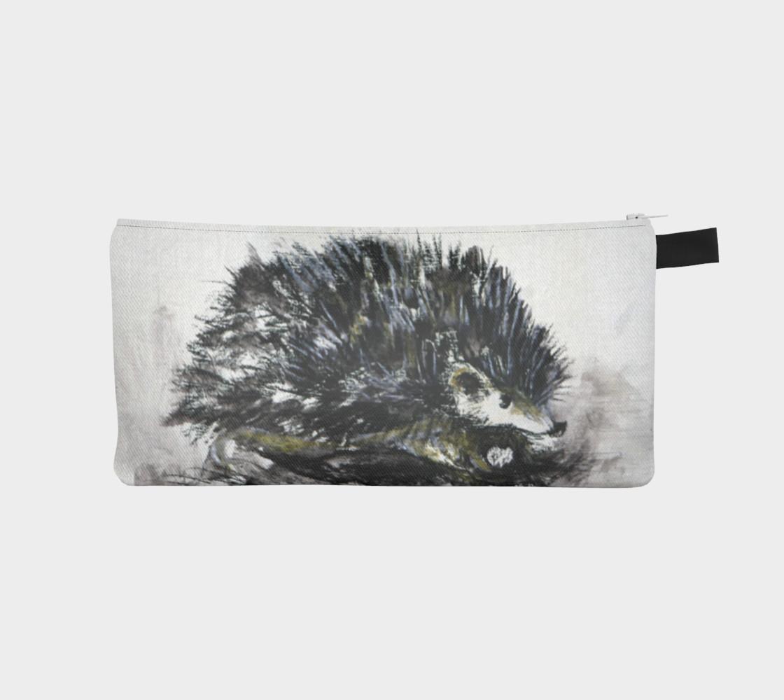 Aperçu de Friendly Hedgehog Pencil Case #1
