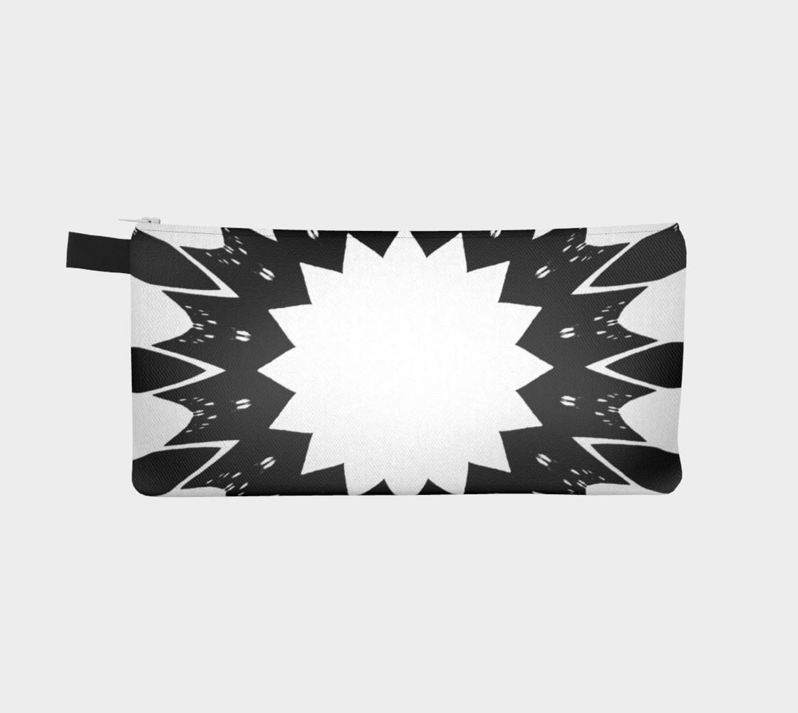 Aperçu de Star Black and White Pencil Case #2