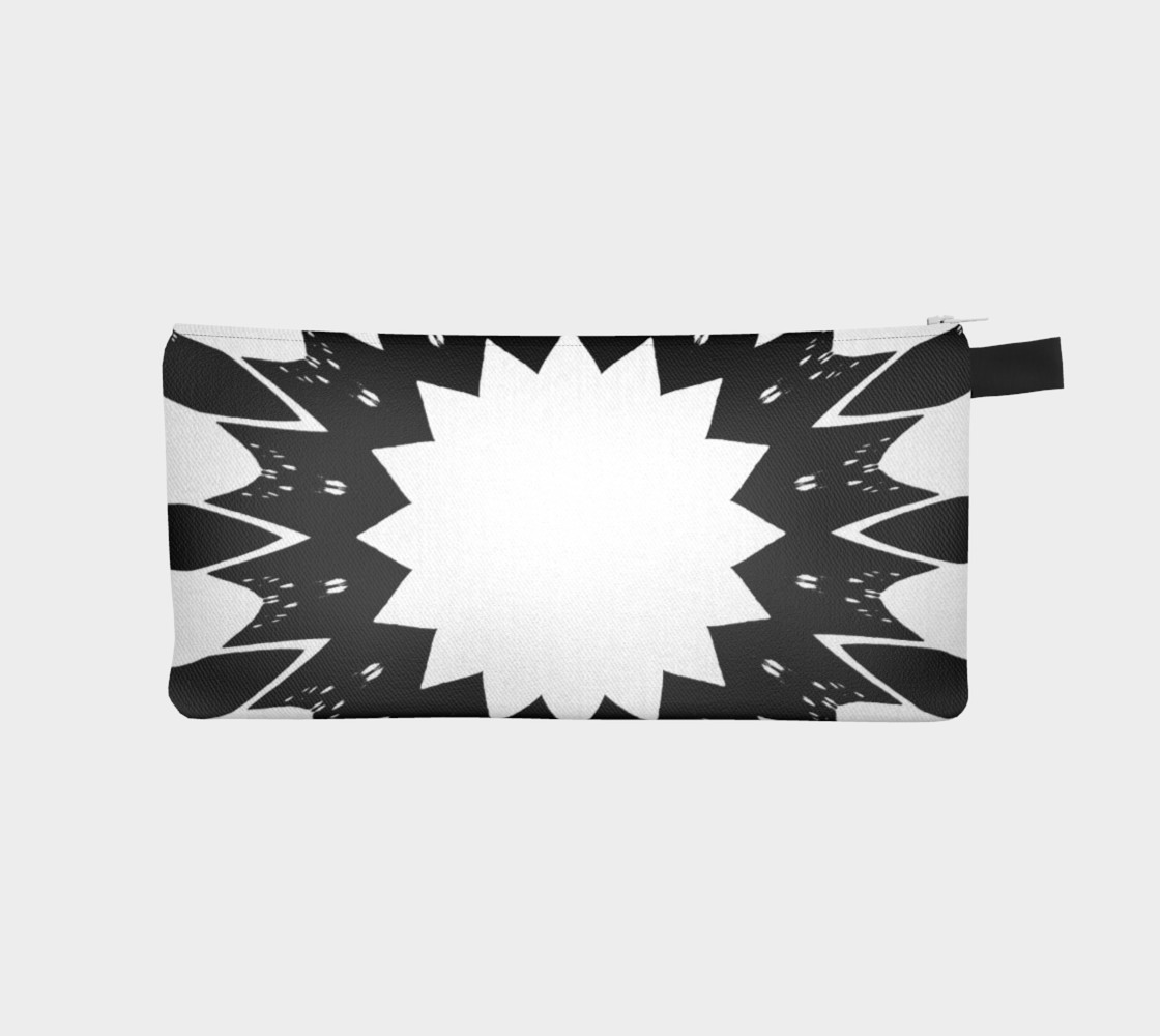 Aperçu de Star Black and White Pencil Case #1