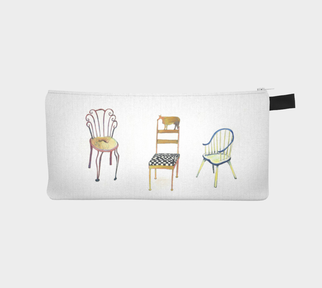 5 Chairs and 1 Tac pencil case by Nadina Tandy preview #1