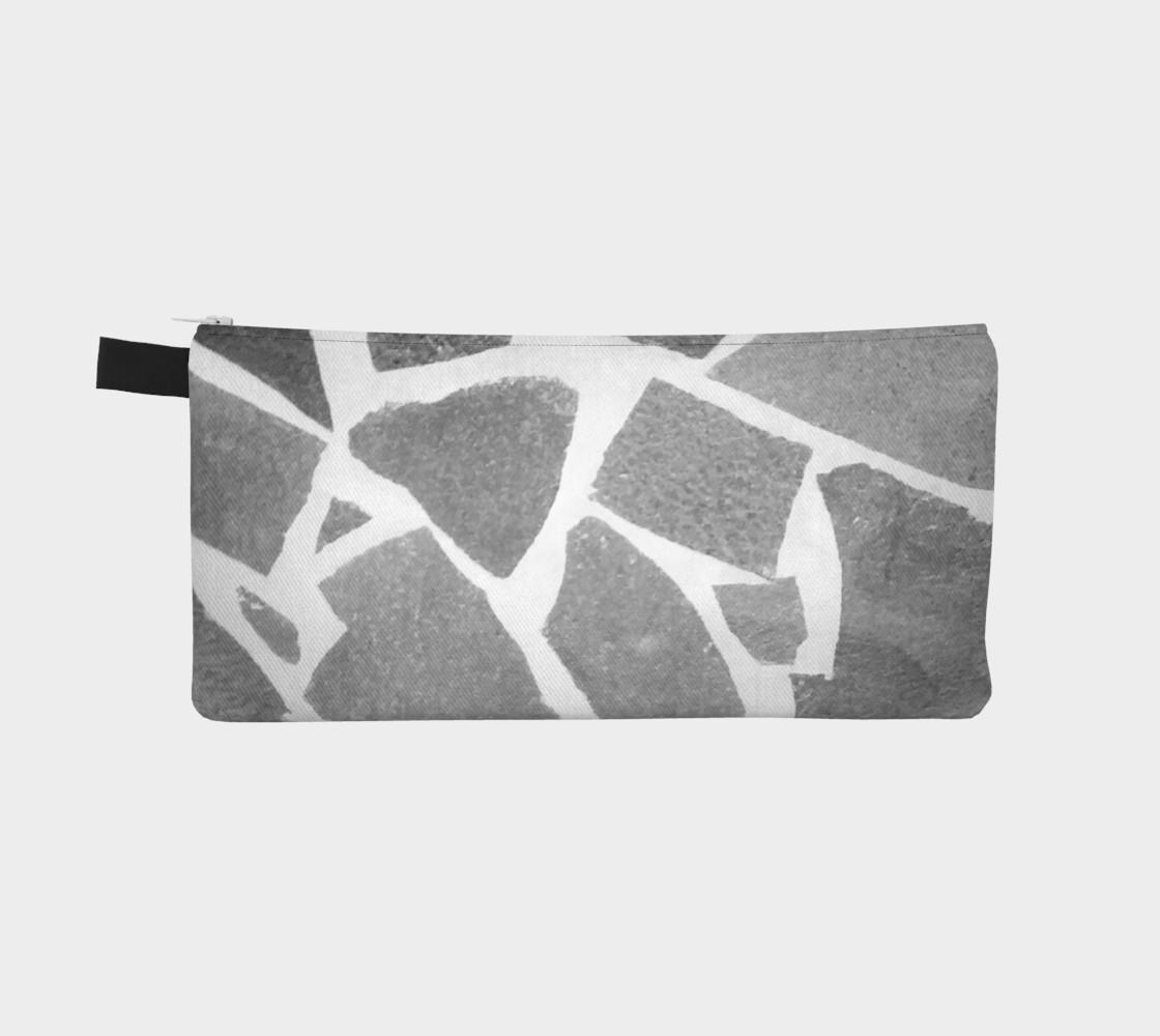 Gray White Stone Mosaic Pattern preview #2