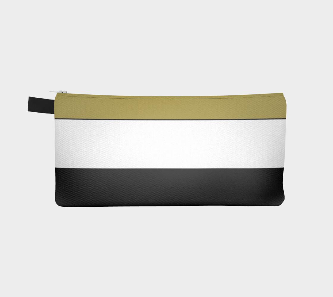 Elegant Black White Brown Gold Stripes preview #2