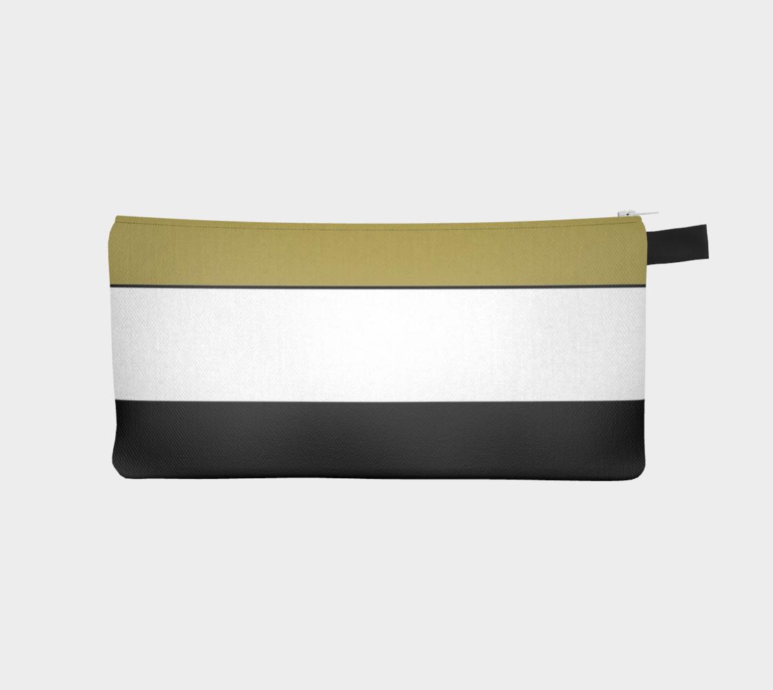 Elegant Black White Brown Gold Stripes preview #1