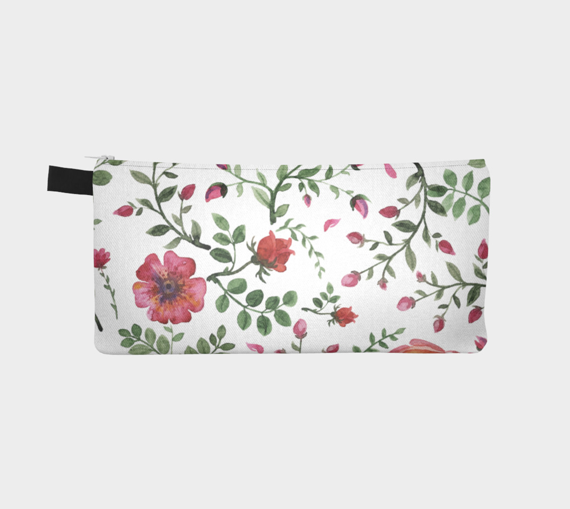 flowers watercolor of floral rose seamless pattern preview #2