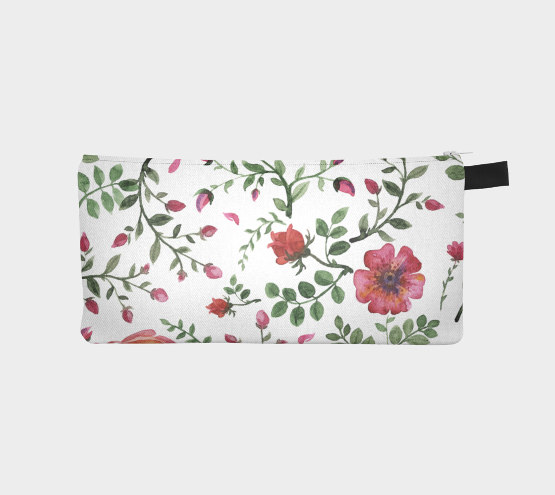 flowers watercolor of floral rose seamless pattern preview #1