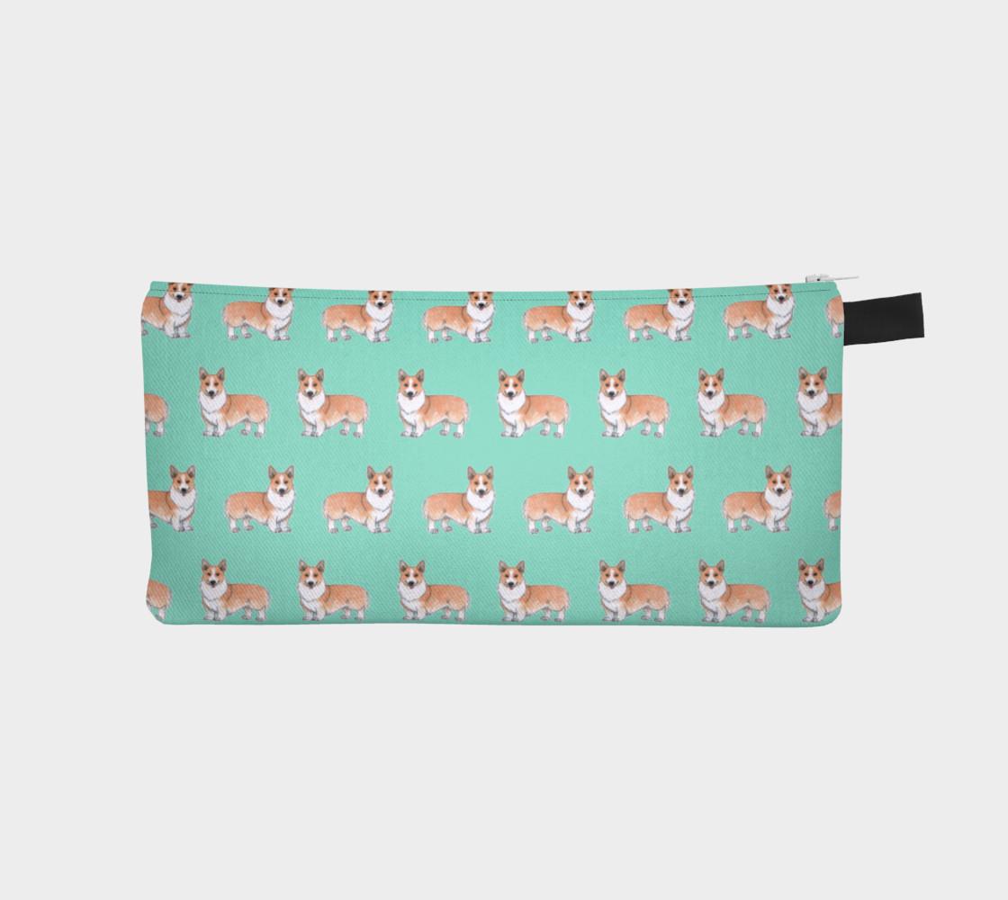 Aperçu de Welsh corgi dogs pattern Pencil Case #1