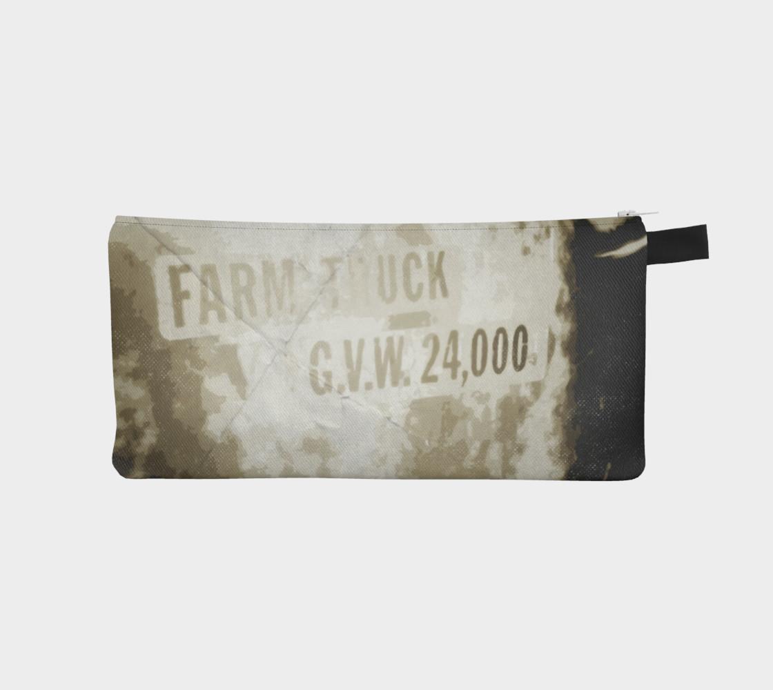 Aperçu de Vintage Farm Truck Door Pencil Case #1