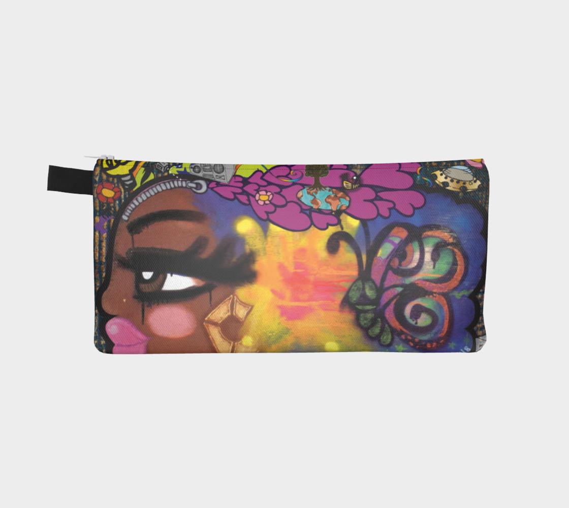 Aperçu de AfroPuff™ ZipperHead Pencil Case #2