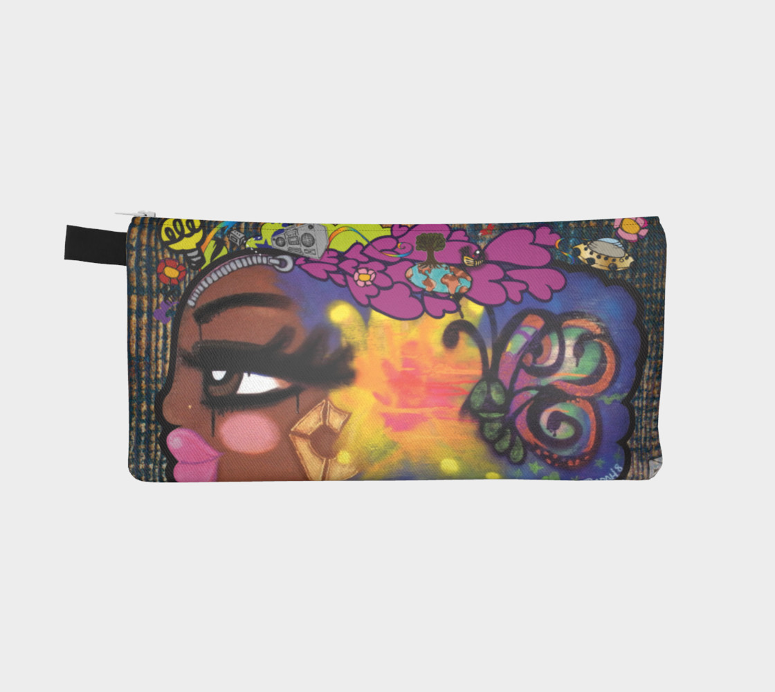 Aperçu de AfroPuff™ ZipperHead Pencil Case #2