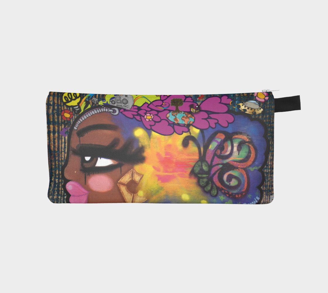 Aperçu de AfroPuff™ ZipperHead Pencil Case #1