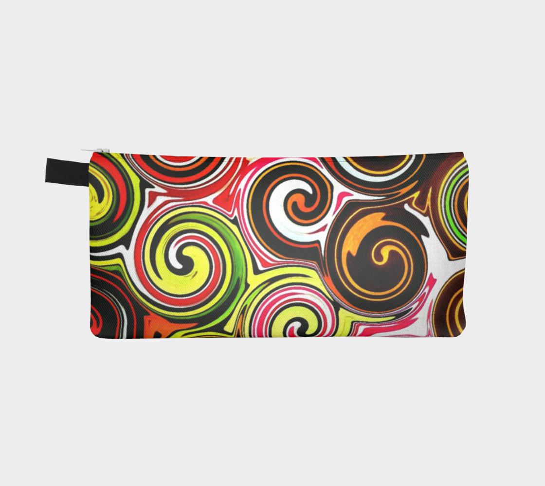Swirl Me Pretty Colorful Cosmetics Case preview #2