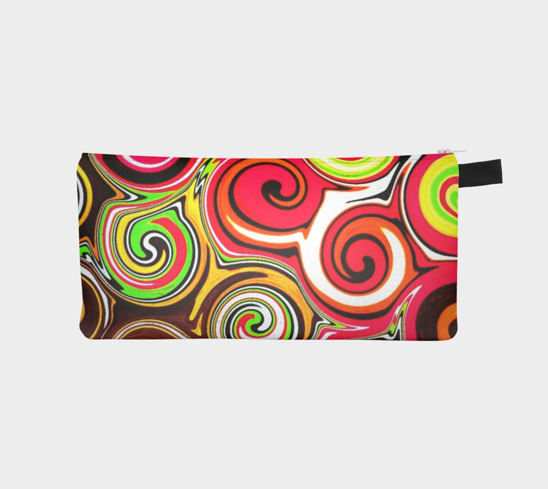 Swirl Me Pretty Colorful Cosmetics Case preview #1