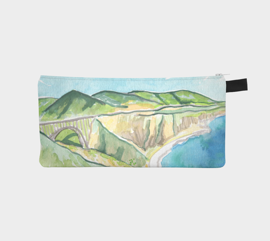 Big Sur Bixby Bridge Watercolor preview #1