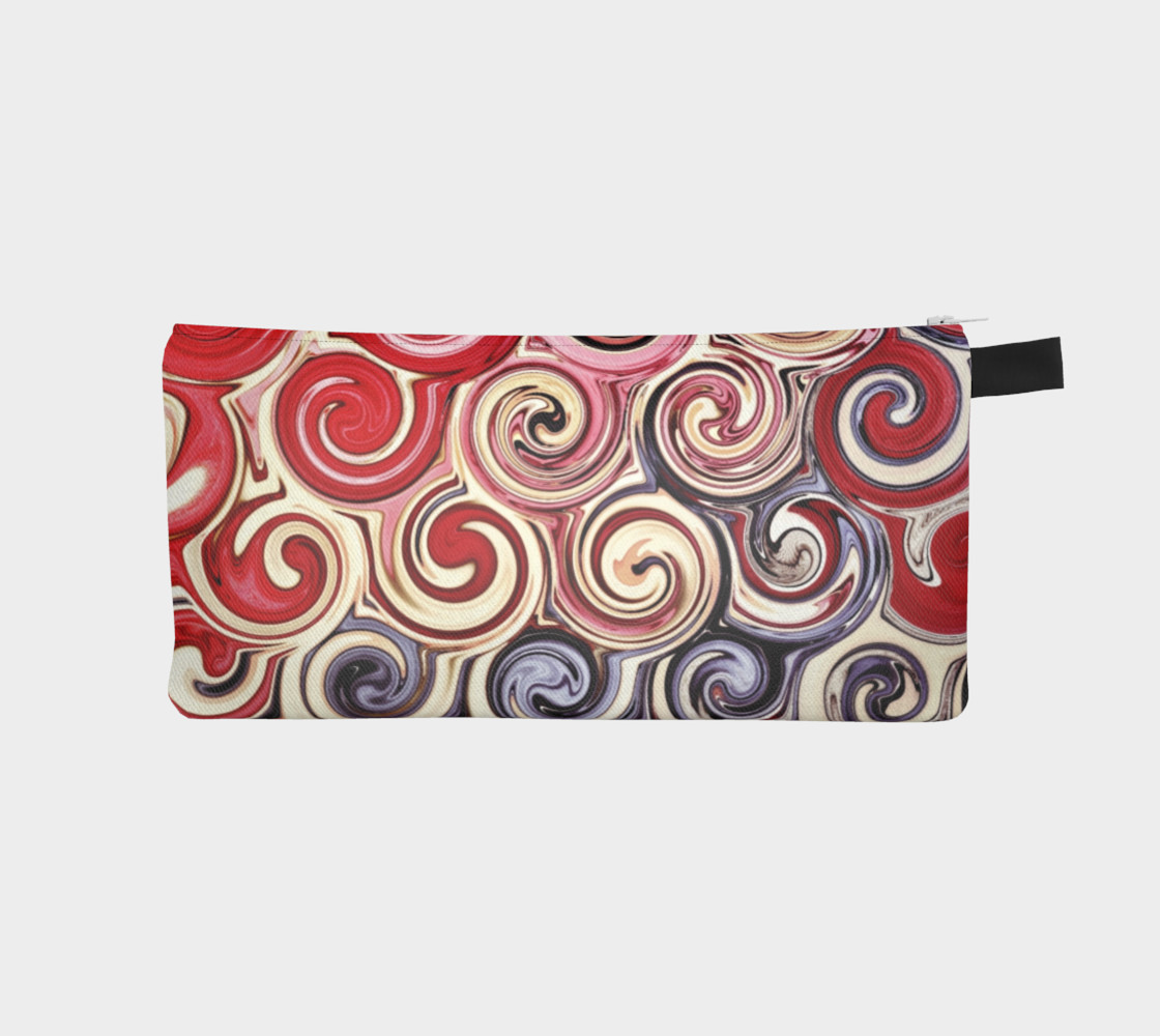 Swirl Me Pretty Pink Red Blue Cosmetics Case preview #1