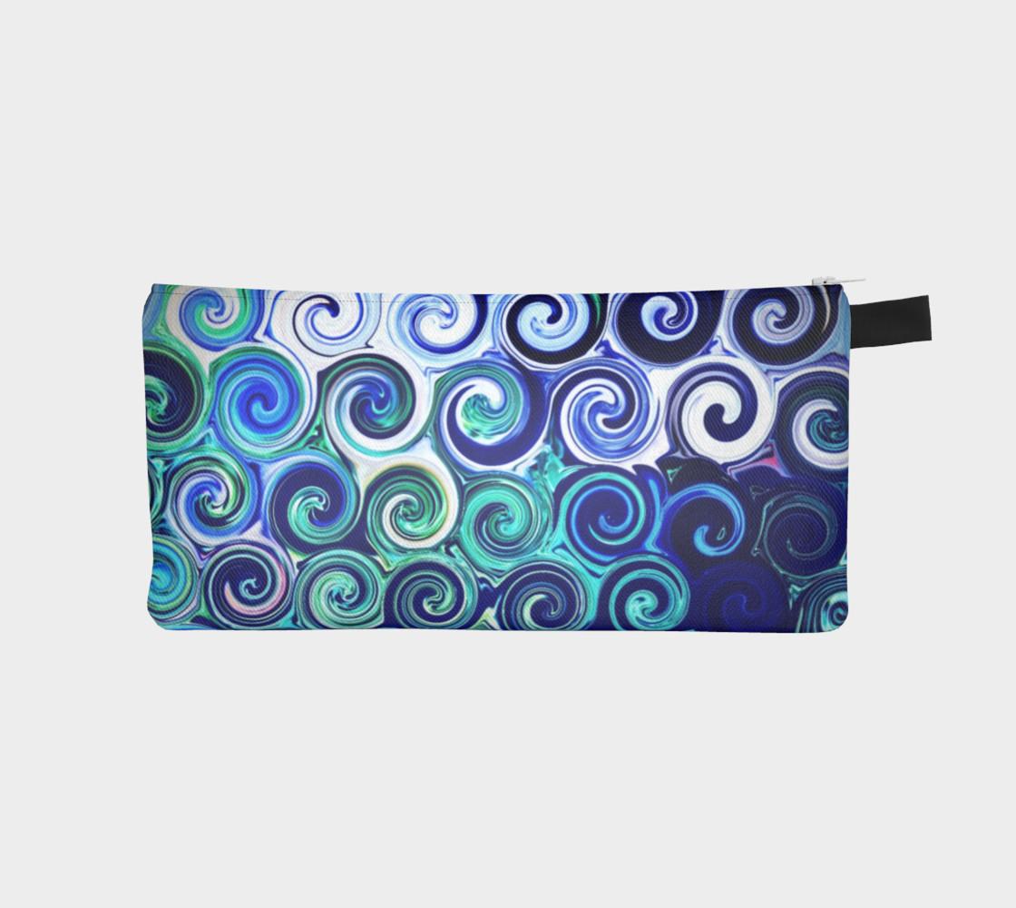 Aperçu de Blue Swirls Pretty Cosmetics Bag #1