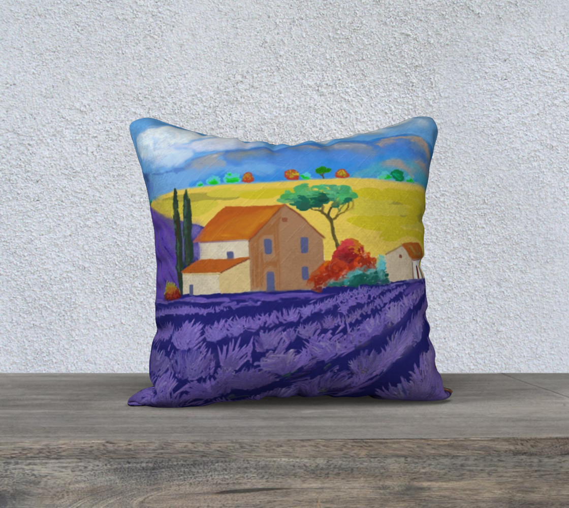 Lavender Farm Pillow Case 18x18 preview #1