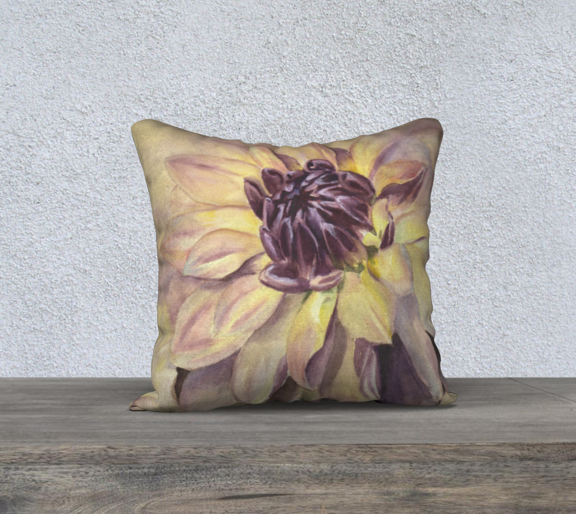 Golden Yellow and Purple Dahlia preview #1
