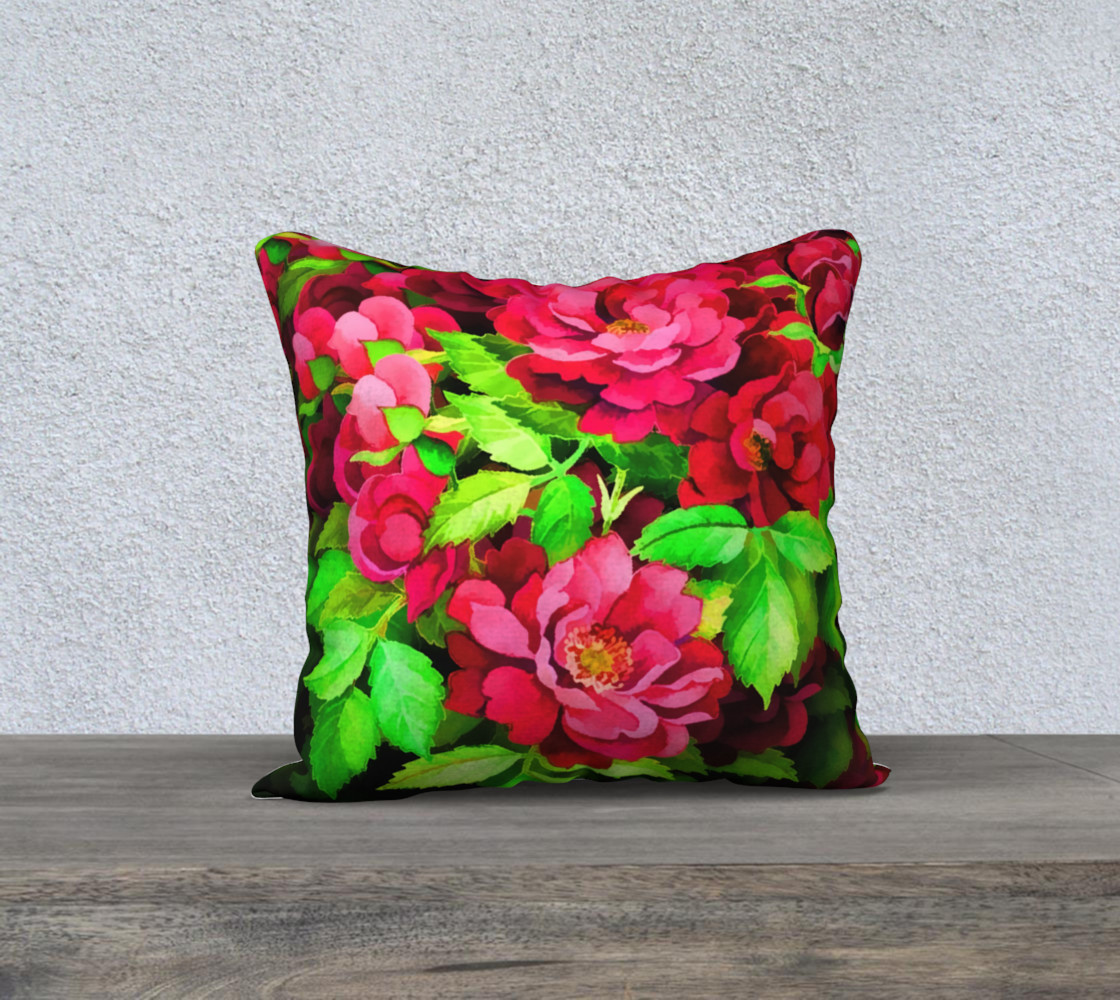 Floral Rose Pillow 1 preview #1