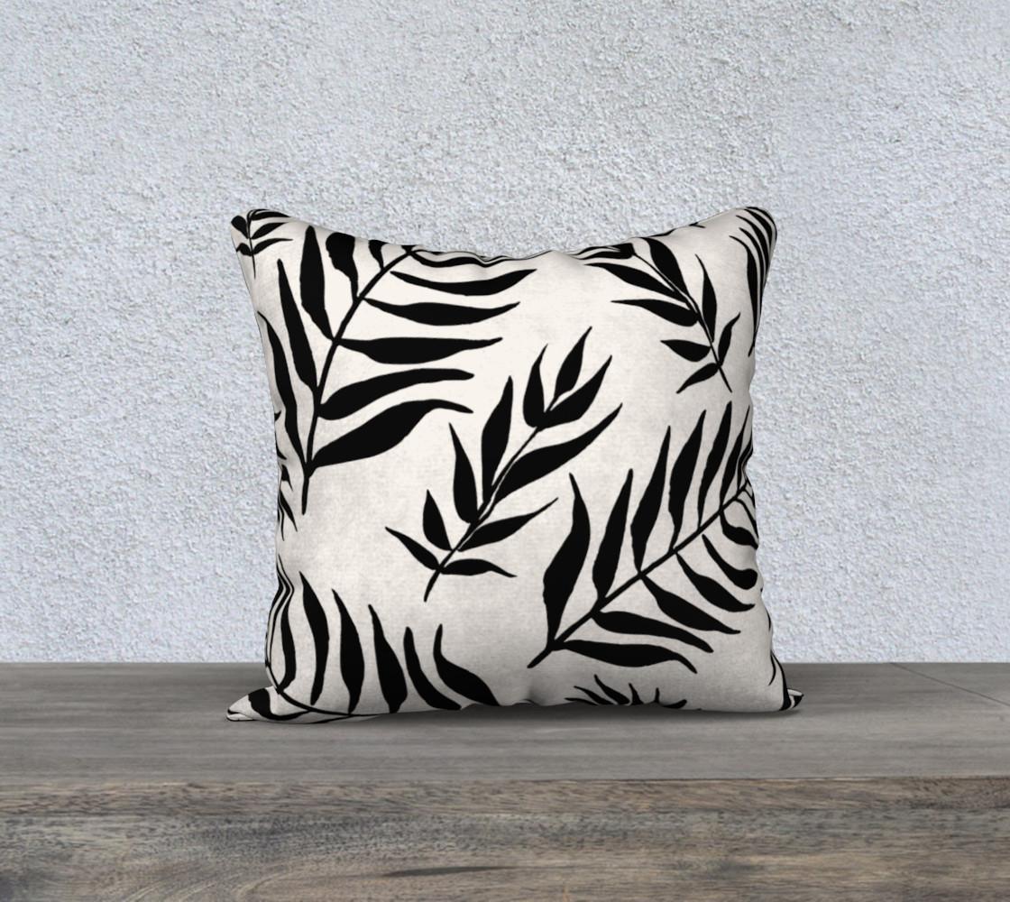 Black Palm Leaves Pattern preview #1