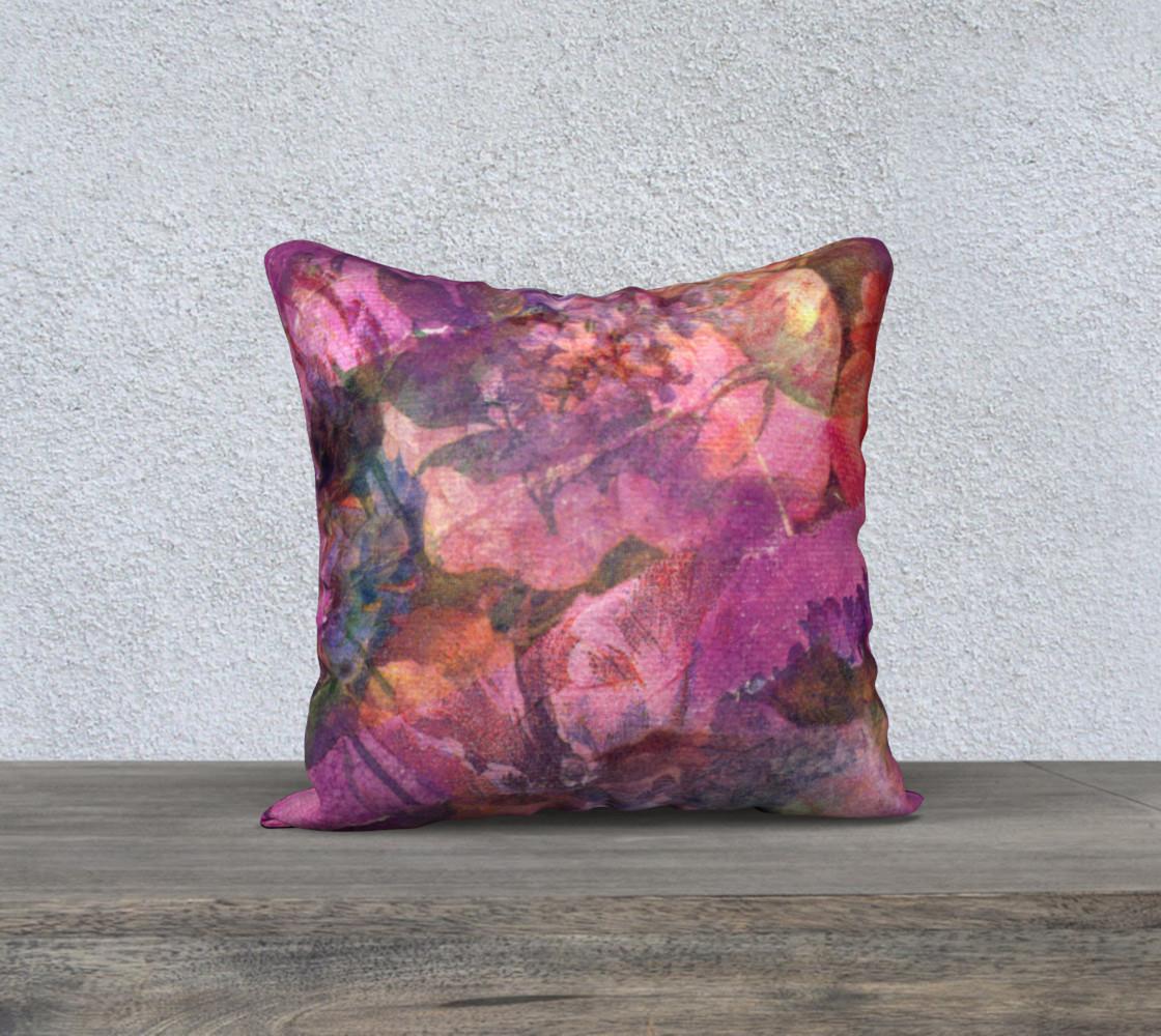 Aperçu de Unfolding Flowers Pillow Case 18sq #1
