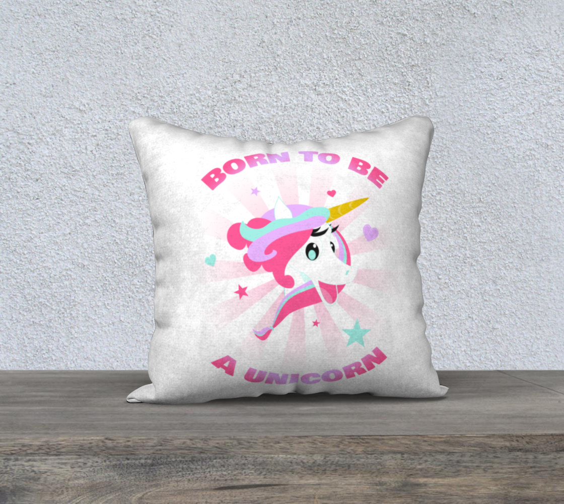 Born to be a Unicorn Pillow Case preview #1
