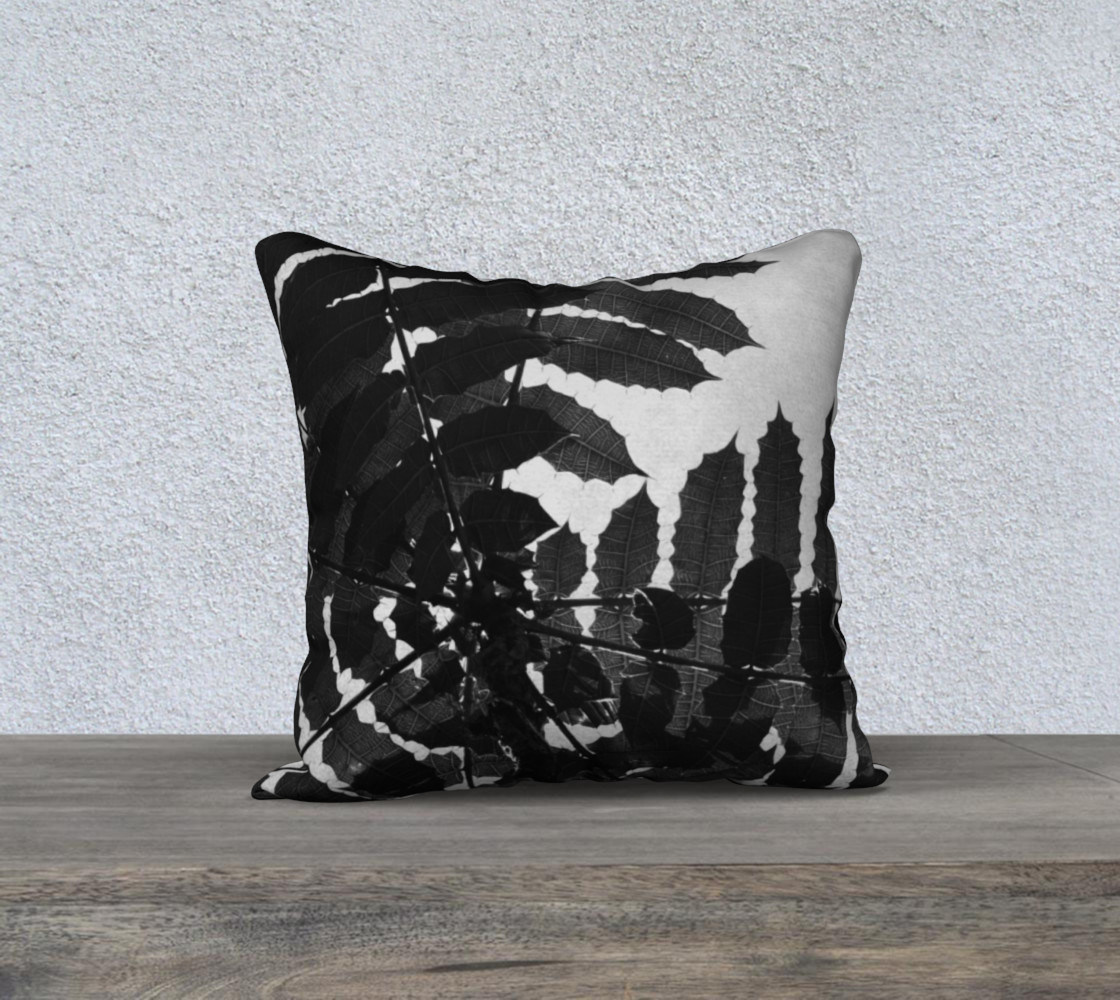 Black and White Leaf Pillow preview #1