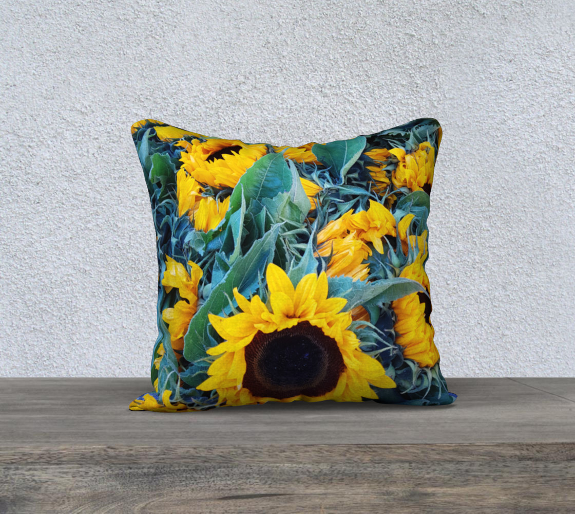 Aperçu de Sunflowers pillow #1