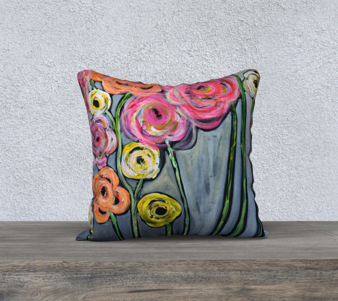 Aperçu de 18x18 bloom where you are planted pillow case #1