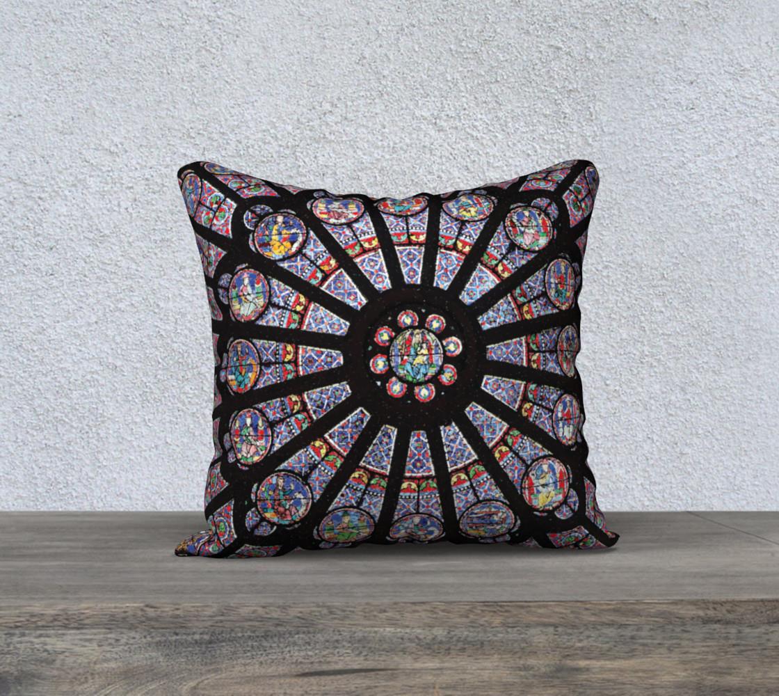"""Rose South Window, Notre Dame Paris 18"""" x 18"""" Decorative Pillow Case preview #1"""