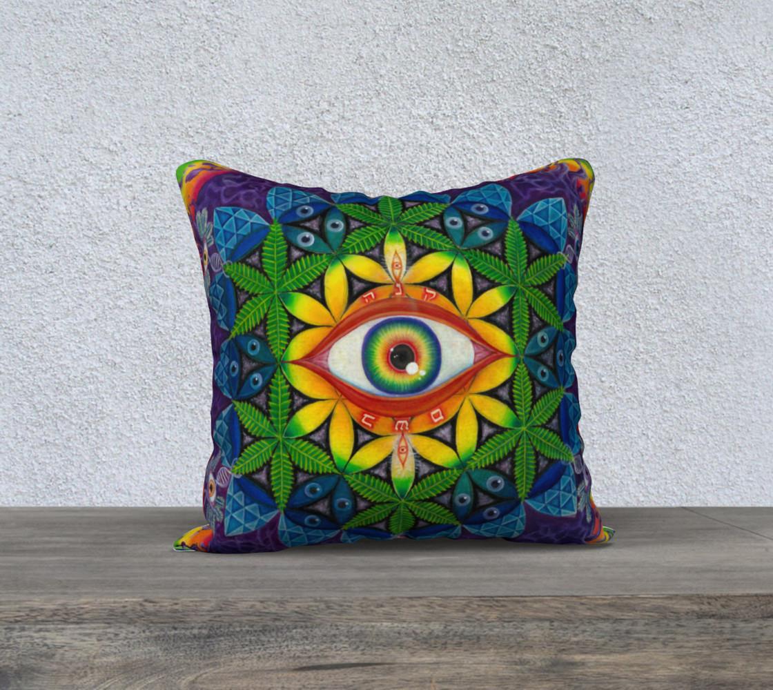 Cannabis Matrix pillow preview #1