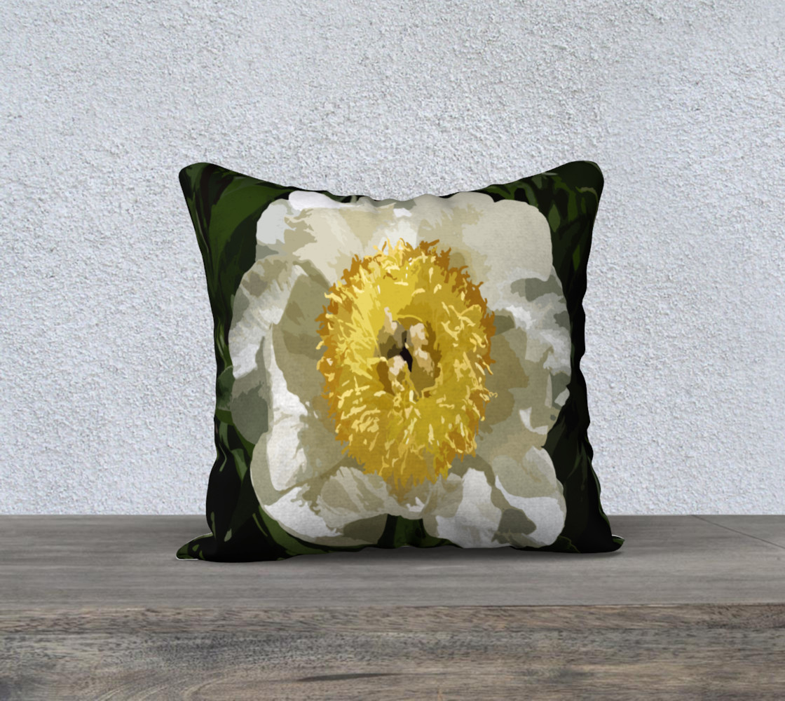 Nobel Yellow Peony Pillow preview #1