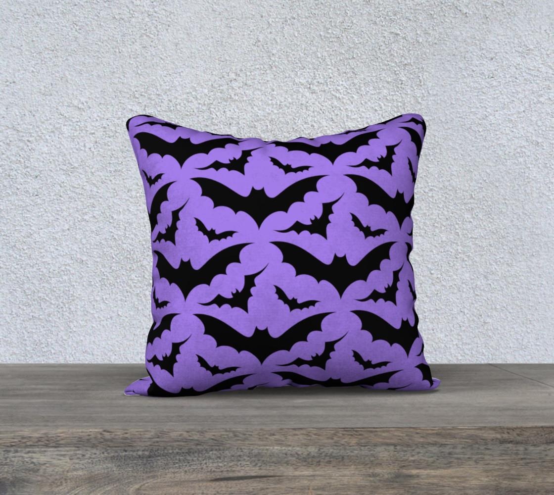 Purple Bats Pillow Case preview #1