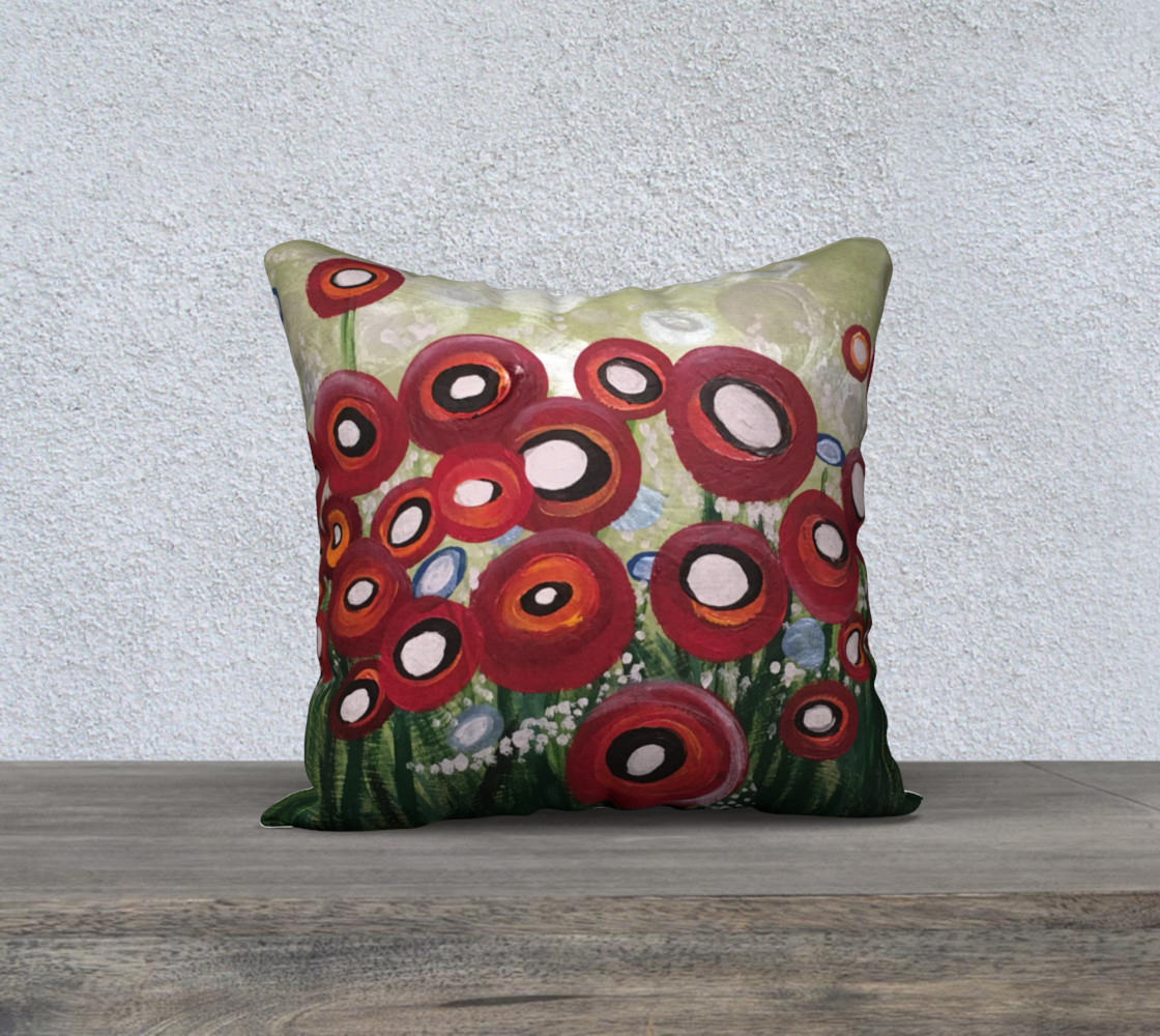 Whimsical Poppy Pillow preview #1