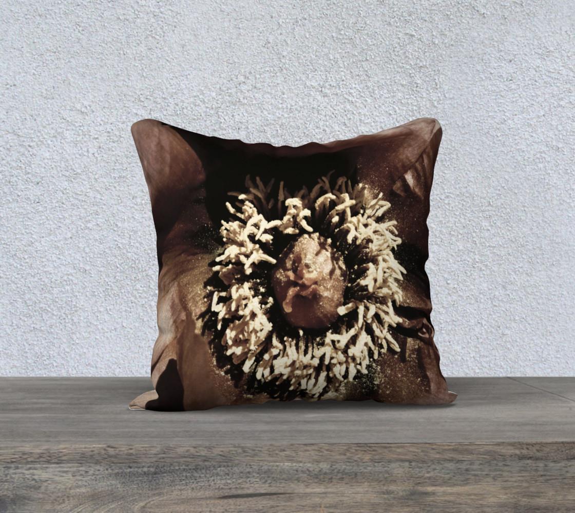 Regal Rustic Peony Pillow preview #1