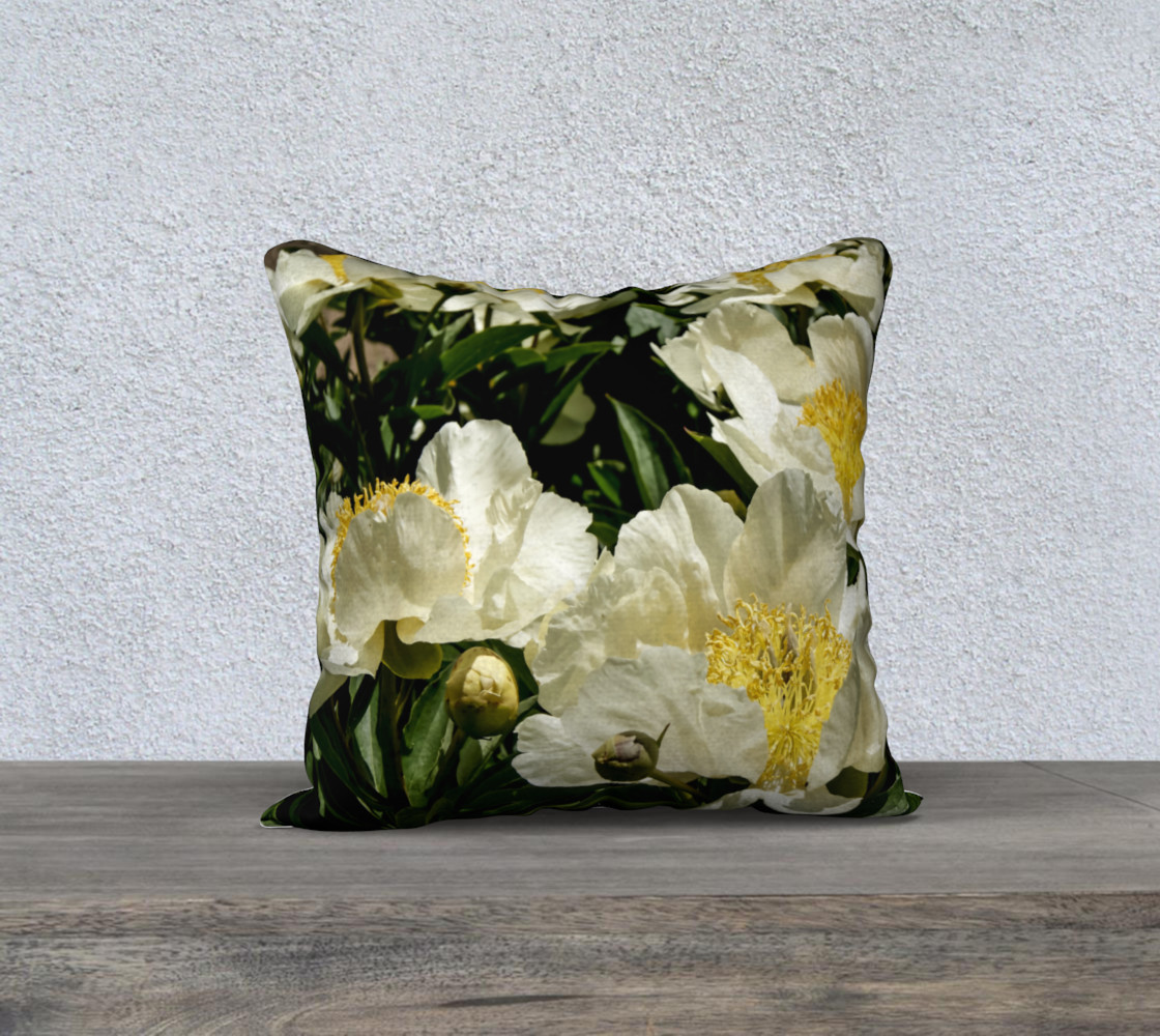 Field of Peony Dreams Pillow 3D preview