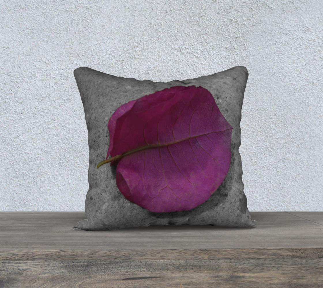 Glorious Golden Rain Tree Leaf Pillow preview #1