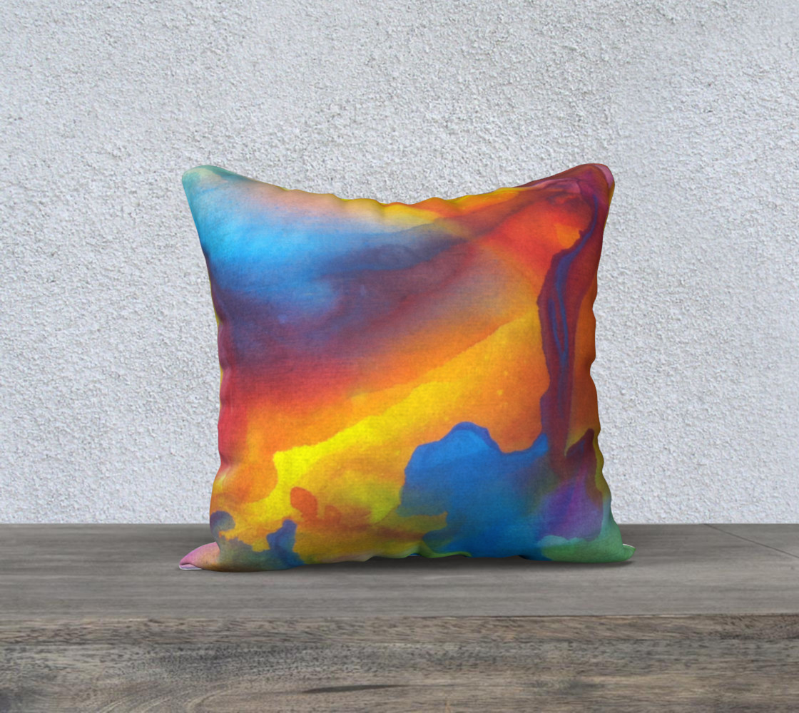 Summer Swirl Pillow Square S preview #1