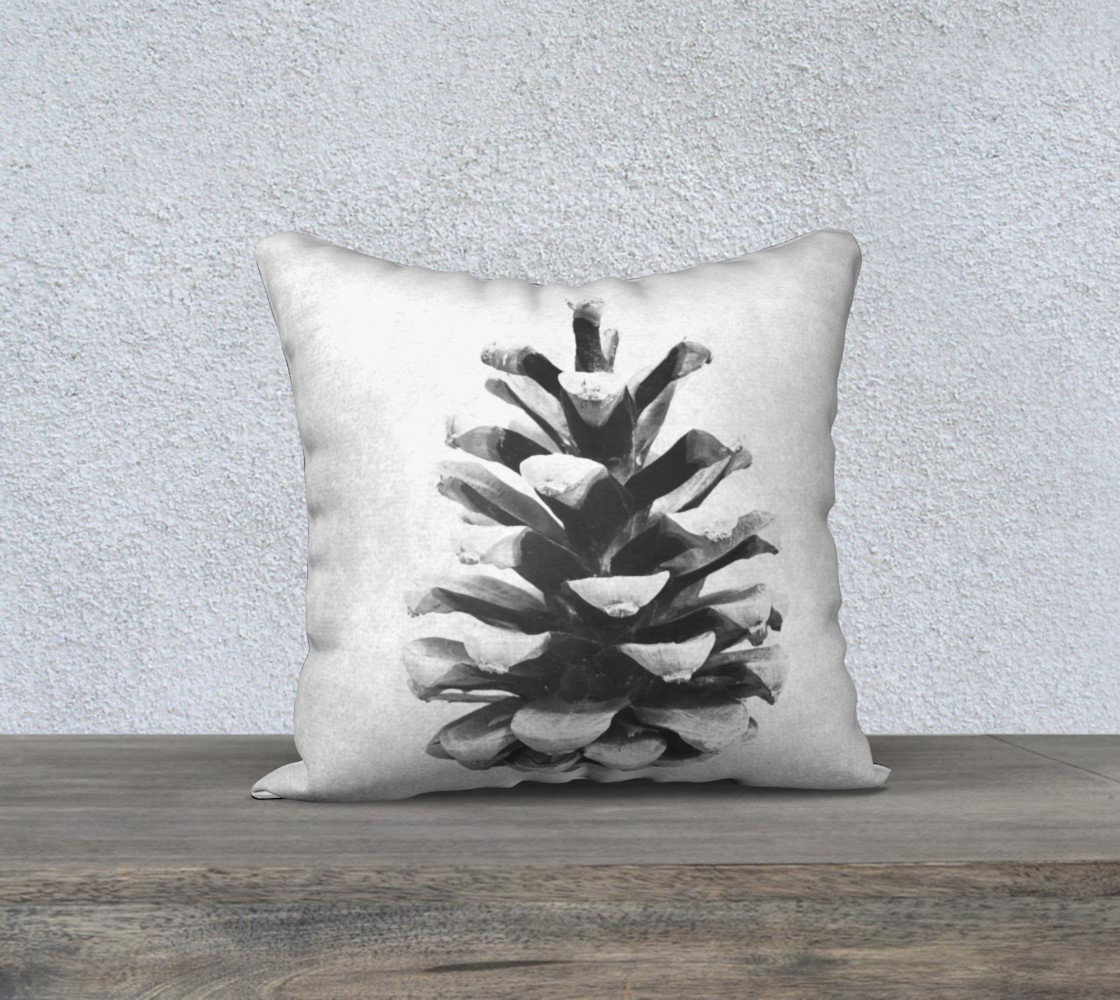 Black and White Pinecone Miniature #2