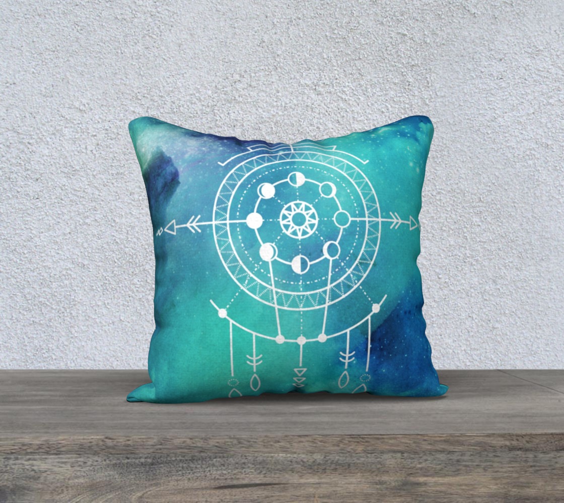 Boho Constellation Moon phase Pillow preview #1