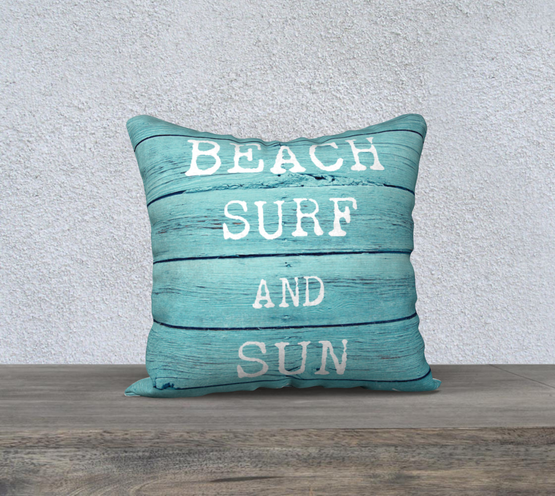 "Aperçu de beach surf and sun 18"" white back #1"
